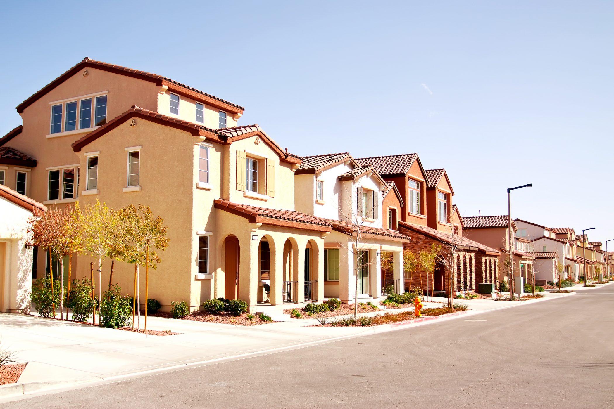 Quiet suburban neighborhood
